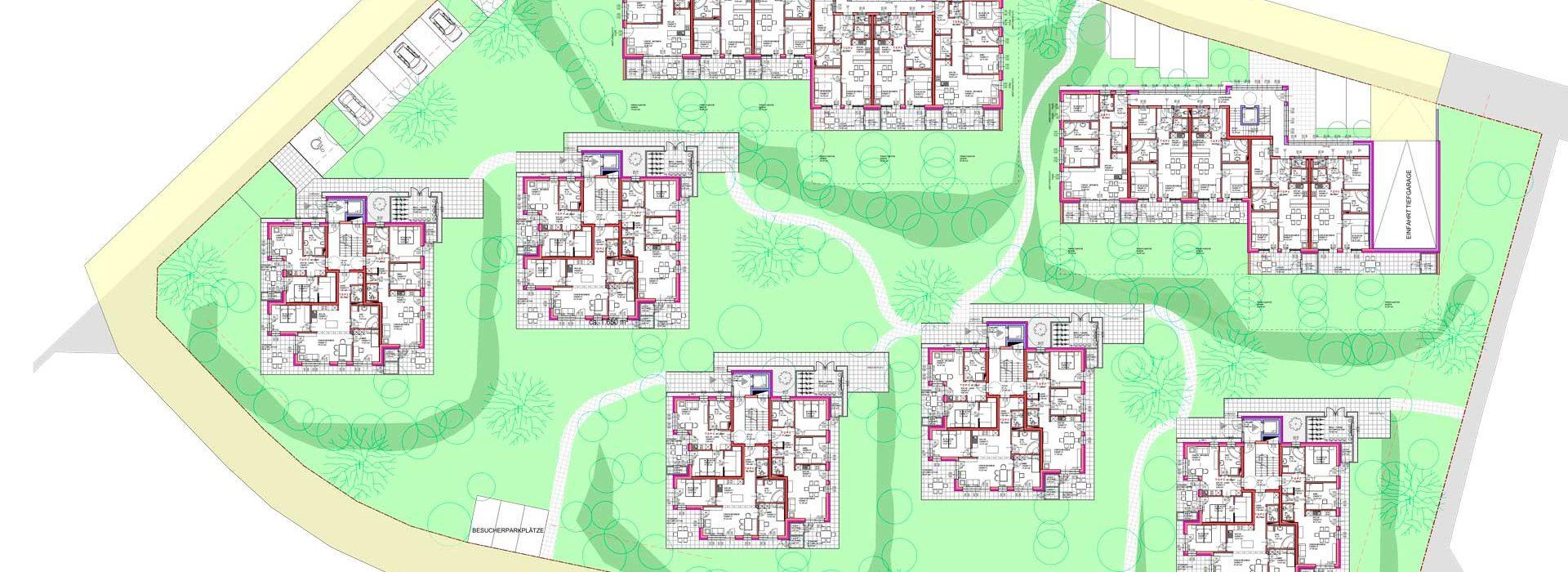 Wohnbebauung auf 10.000m²